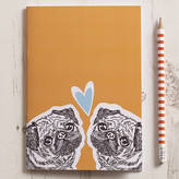 STUDY Ginger Line Designs Pug Love Notebook