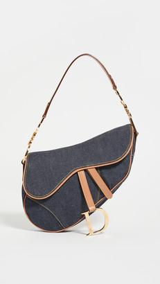 Shopbop Archive Christina Dior Denim Saddle Bag