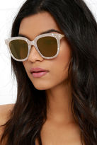 LuLu*s First-Rate Find Ivory Iridescent Sunglasses