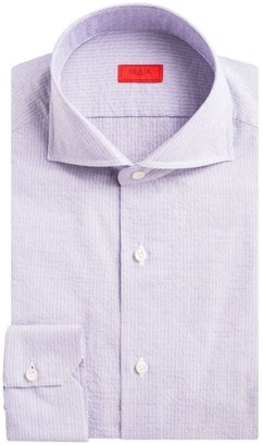 Isaia Navetta Pinstripe Button-Down Shirt
