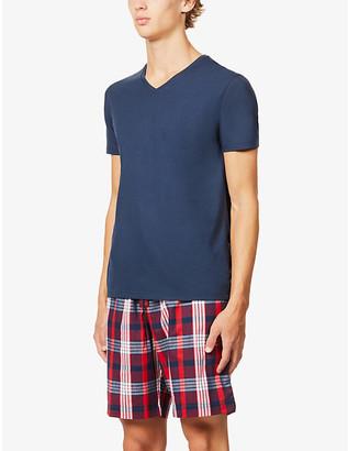 Derek Rose Ranga check cotton pyjama shorts