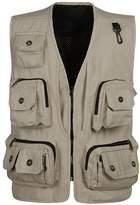 Feicuan Men's Pockets Multi Function Work Vest Photo Safari Travel Vest