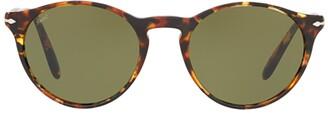 Persol Tortoise Shell Round Frame Sunglasses