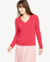 Ann Taylor V-Neck Boucle Sweater