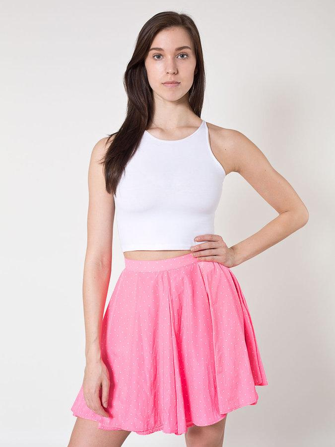 American Apparel Polka Dot Short Gore Skirt