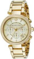 Michael Kors Parker MK5354 Women's Wrist Watches, Gold Dial