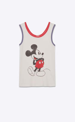 Saint Laurent T-shirt And Jersey Mickey Mouse Tank Top Off White 14