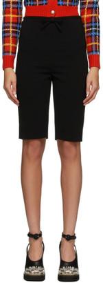 Miu Miu Black Faille Cady Biker Shorts