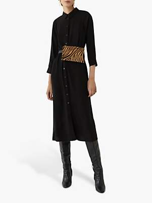 Warehouse Midi Tie Waist Dress