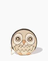 Charming charlie Metallic Owl Coin Purse