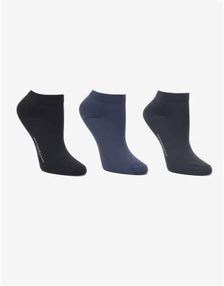 Donna Karan Soft Microfiber 3 Pc Low Cut Dress Sock