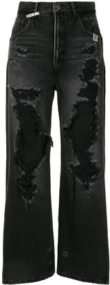 Maison Mihara Yasuhiro High-Rise Wide-Leg Jeans