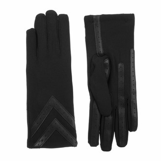 Isotoner Womens Spandex smarTouch Chevron Gloves