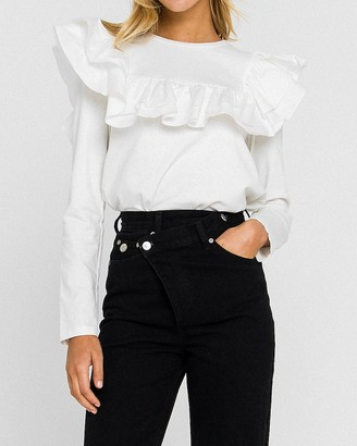 Express English Factory Poplin Ruffle Tee