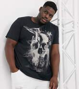 Jack & Jones Originals skull print t-shirt in black