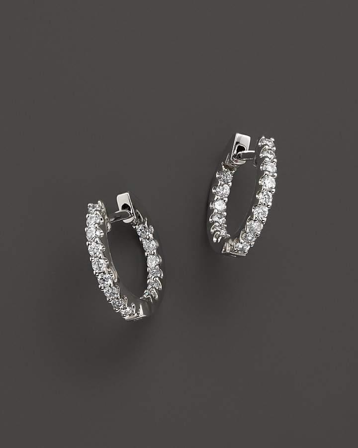 Bloomingdale's Diamond Inside Out Hoop Earrings in 14K White Gold, .30 ct. t.w.