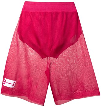 artica-arbox Sheer Track Shorts