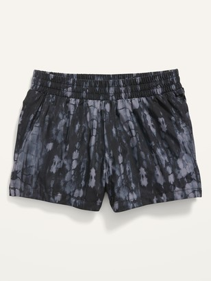 Old Navy Go-Dry Cool Printed Dolphin-Hem Run Shorts for Girls