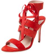 Aperlaï Leather Lace-Up Sandal