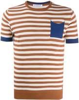 Manuel Ritz striped one pocket T-shirt
