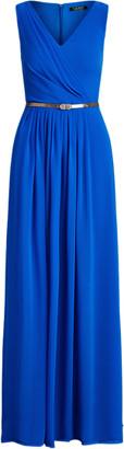 Ralph Lauren Georgette Sleeveless Gown