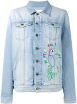 Mira Mikati Hama bead embellished denim jacket