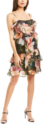 Nicole Miller Silk-Blend Mini Dress