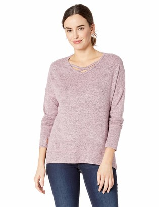 Jockey Women's Cozy Criss Cross Pullover Sweatshirt