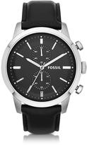 Fossil Townsman Chronograph Black Leather Men's Watch