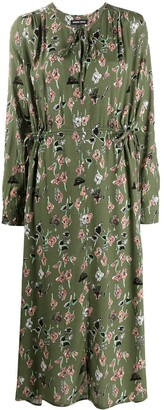 Markus Lupfer Evelyn painters floral and lip print dress