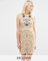 Needle & Thread Folk Bib A-Line Dress