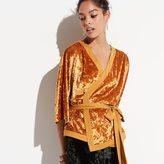 k / lab k/lab Kimono Wrap Velvet Top