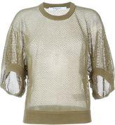 Givenchy cropped fishnet sweater - women - Cotton/Polyamide - XS