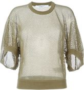 Givenchy cropped fishnet sweater