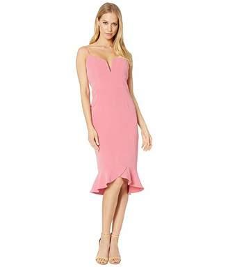 Bardot Kristen Peplum Dress (Melon) Women's Dress