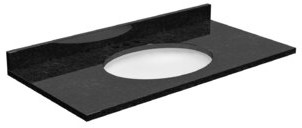 "CNC Costume National Cabinetry 43"" Granite Single Bathroom Vanity Top Cabinetry Top Finish: Absolute Black"