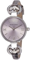 Emporio Armani Women's AR1884 Fashion Grey Leather Watch
