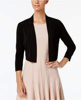 Calvin Klein Three-Quarter-Sleeve Open-Front Shrug