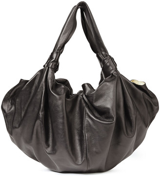 The Row Ascot Knotted Leather Shoulder Bag