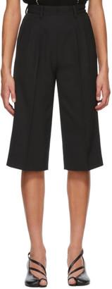 Maison Margiela Black Wool Bermuda Shorts