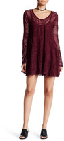 Romeo & Juliet Couture Long Sleeve Short Lace Dress