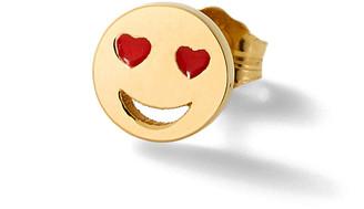 Alison Lou Love Struck Stud Single Earring - Yellow Gold