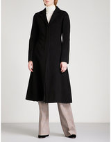 Theory A-line wool and cashmere-blend coat