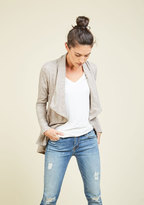 ModCloth Airport Greeting Cardigan in Oatmeal in 1X