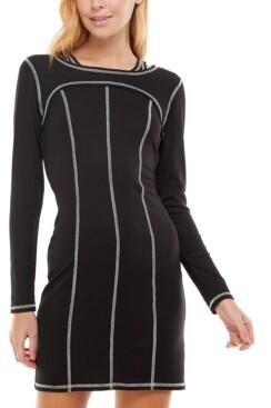 Ultra Flirt Juniors' Long-Sleeve Bodycon Dress