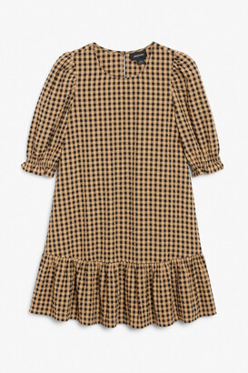 Monki Mini cotton trapeze dress