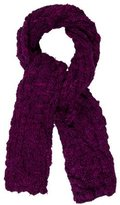Mulberry Cable Knit Wool Scarf