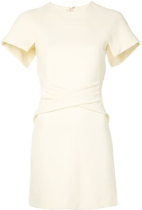Dion Lee Concave crepe mini dress