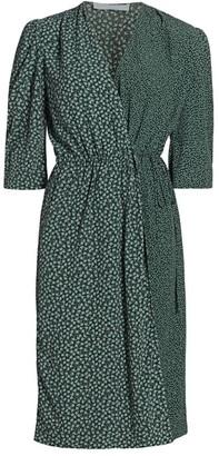 See by Chloe Flowers & Dots Printed Wrap Dress