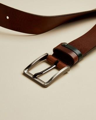 Ted Baker Contrast Detail Leather Belt